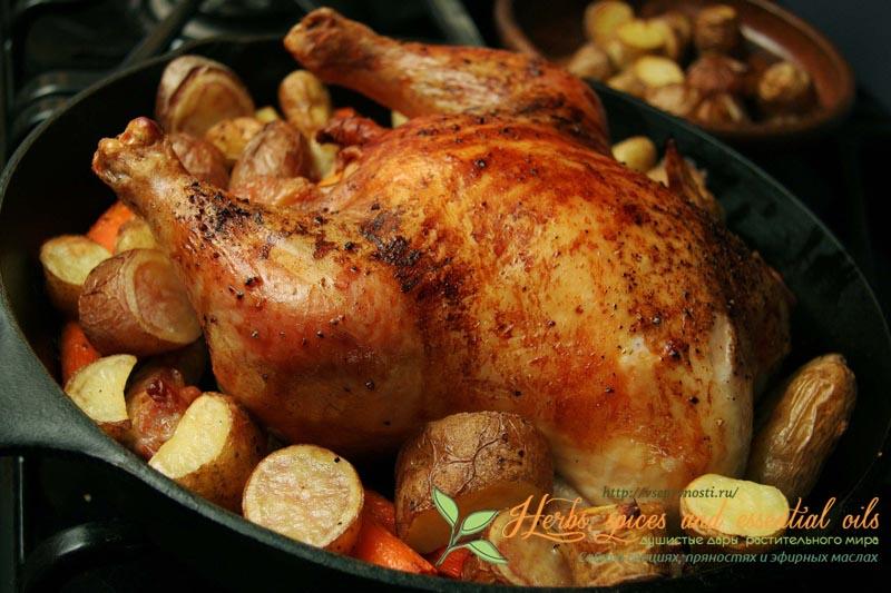 курица с золотистой корочкой в духовке рецепт с фото