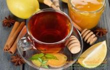 Мед корица лимон