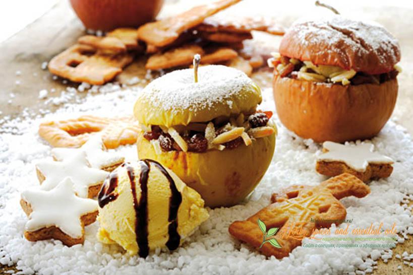 Запеченные яблоки в духовке с медом и корицей