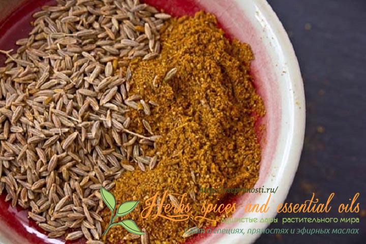 Приправа зира в семенах и молотая