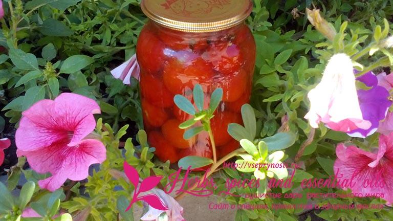Сладко- соленые помидоры на зиму