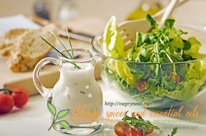 Домашний соус для овощных салатов
