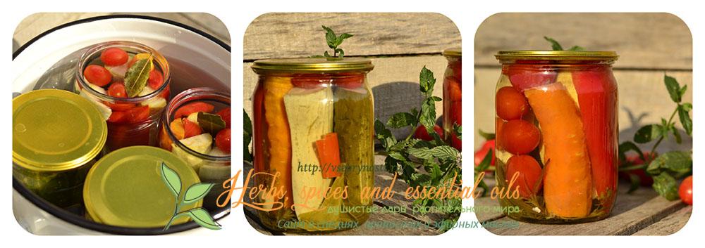Ассорти из овощей на зиму с кабачками