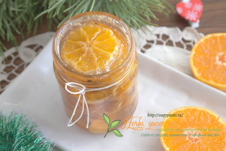 Варенье из хурмы и мандаринов с тыквой