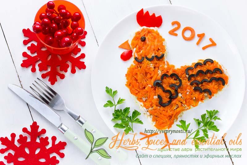 Мясные салаты на праздничный стол