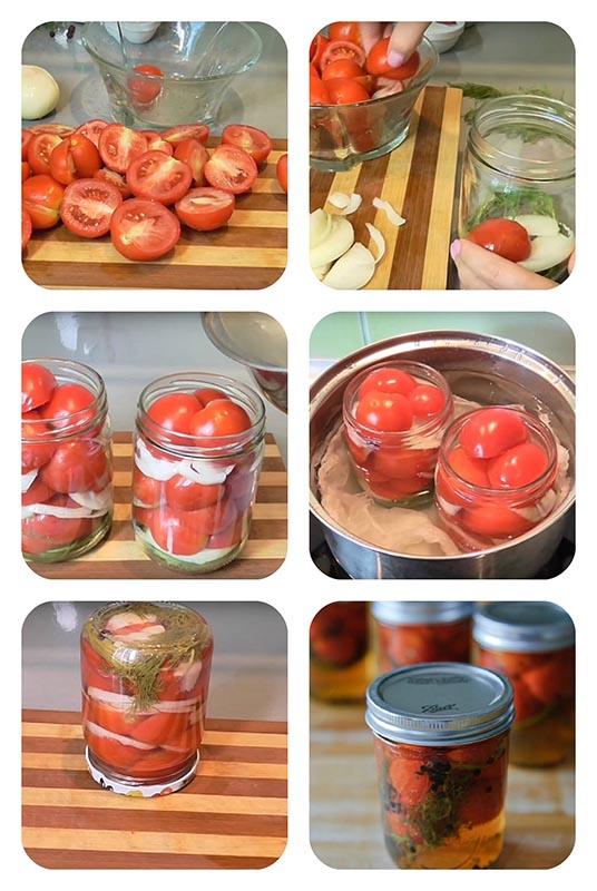 помидоры в желатине на зиму
