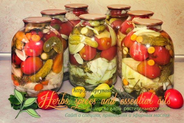 Маринованные овощные ассорти