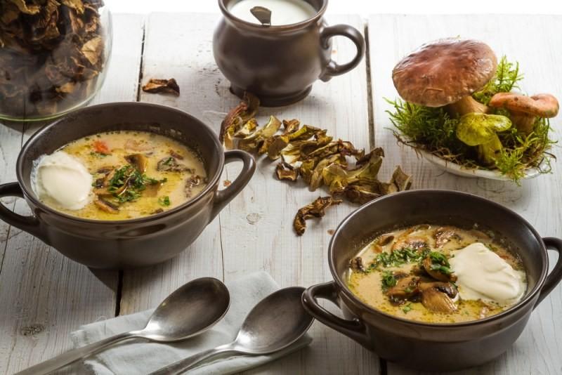 Борщ из сушеных грибов рецепт