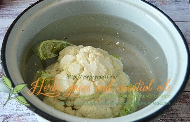 как пожарить цветную капусту на сковороде