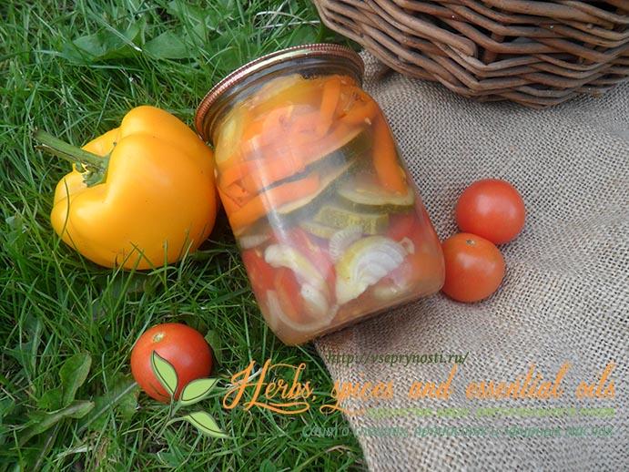 овощи в желе