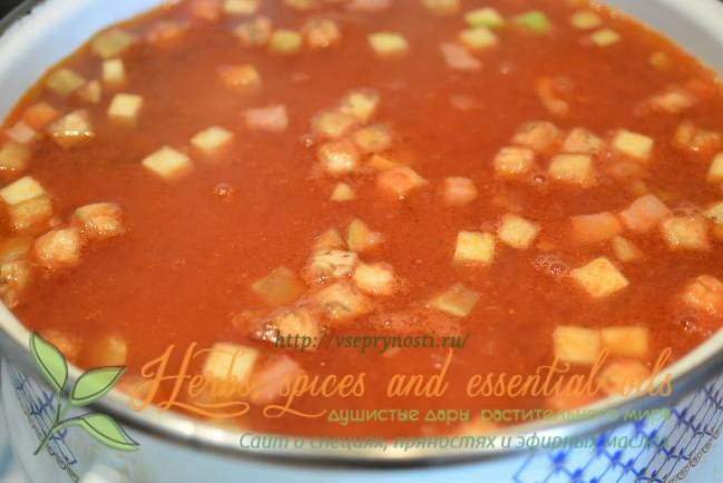 Итальянский суп министроне