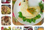 Миниатюра к статье Рецепты вкусных мясных салатов к праздникам  с фото и видео